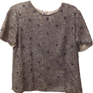 Papell Boutique Top Silver