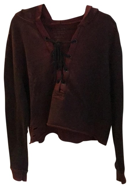 Preload https://item3.tradesy.com/images/plum-lace-up-ombre-sweatshirthoodie-size-10-m-23389302-0-1.jpg?width=400&height=650