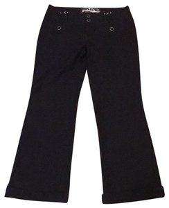 Anthropologie Preppy Casual Office Nautical Wide Leg Pants black