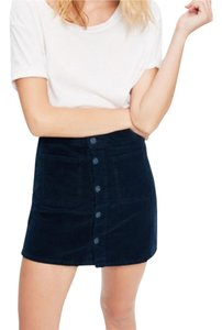 Mother Mini Skirt Navy Blue