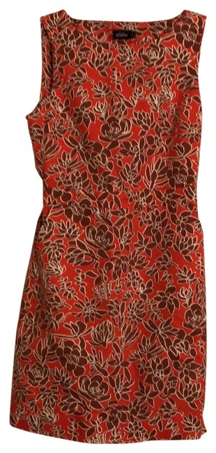 Item - Orange and Brown Saturday Summer Mid-length Short Casual Dress Size 6 (S)