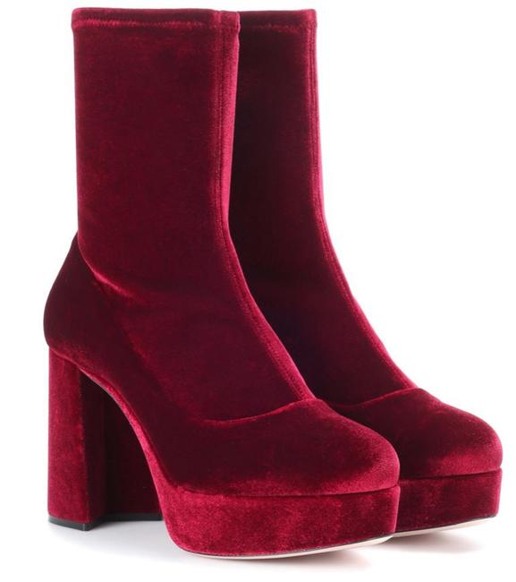 Item - Burgundy Ankle Boots/Booties Size EU 36.5 (Approx. US 6.5) Regular (M, B)