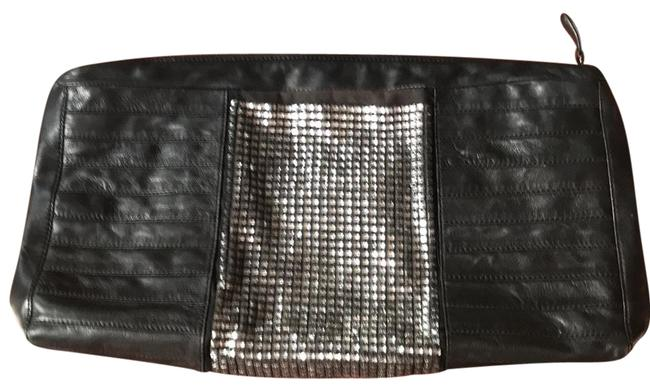 Item - Oversized Black Leather Clutch
