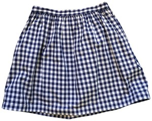 Organic by John Patrick Mini Skirt navy and white gingham