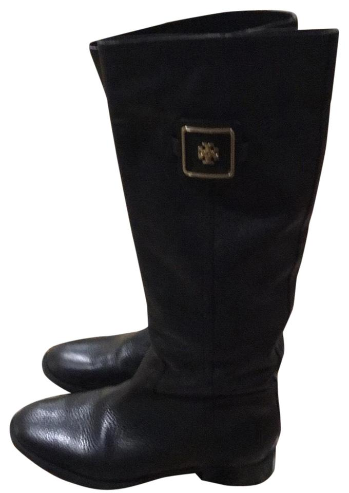 Tory Burch Burch Tory Black Leather Tall Boots/Booties 48dca8