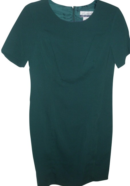 Item - Green Elegant Forest Classic Fitted Tailored Day To Eve Sheath Work/Office Dress Size 6 (S)