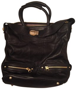 See by Chloé Satchel in Black with gold hardware