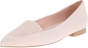 Cole Haan Suede Scallop Pink Leather Canyon Rose Flats