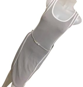 white and grey Maxi Dress by Carmin