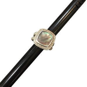 David Yurman Black Mother of Pearl Diamond Albion Cable Ring 17mm