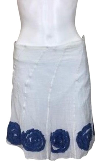 Item - White Blue Casual Skirt Size 8 (M, 29, 30)