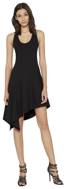 Preload https://img-static.tradesy.com/item/23390872/halston-black-ribbed-jersey-with-flounce-mid-length-cocktail-dress-size-4-s-0-1-650-650.jpg