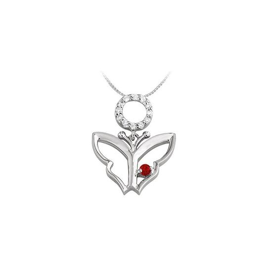 Preload https://img-static.tradesy.com/item/23390904/red-white-gold-butterfly-pendant-with-created-ruby-and-cubic-zirconia-in-14k-necklace-0-0-540-540.jpg