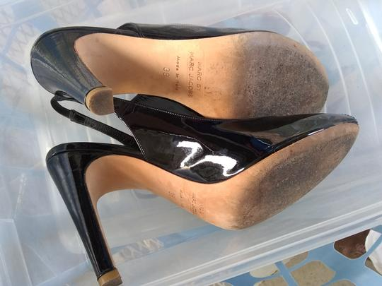 Marc by Marc Jacobs Peep Toe Slingback Patent Leather black Pumps