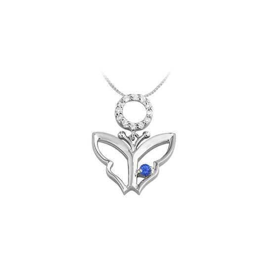 Preload https://img-static.tradesy.com/item/23390912/blue-white-gold-butterfly-pendant-with-created-sapphire-and-cubic-zirconia-in-necklace-0-0-540-540.jpg