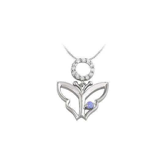 Preload https://img-static.tradesy.com/item/23390948/blue-white-gold-butterfly-pendant-with-cubic-zirconia-and-created-tanzanite-necklace-0-0-540-540.jpg