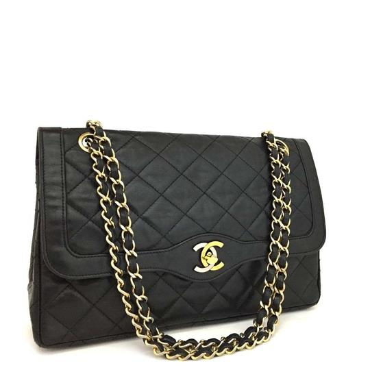 Preload https://img-static.tradesy.com/item/23390954/chanel-quilted-paris-two-tone-double-flap-866898-black-lambskin-leather-shoulder-bag-0-1-540-540.jpg