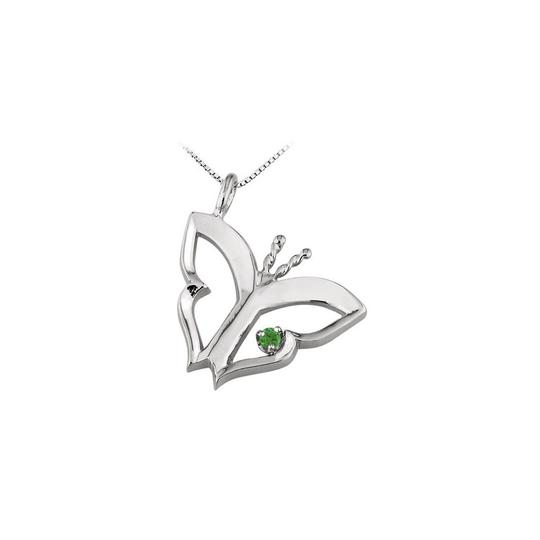 Preload https://img-static.tradesy.com/item/23390959/green-white-gold-butterfly-pendant-with-emerald-in-14kt-015-ct-tgw-necklace-0-0-540-540.jpg