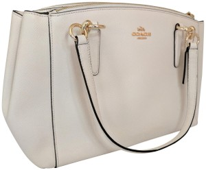 Coach Classy Highlights Christie Carryall Satchel in Off white
