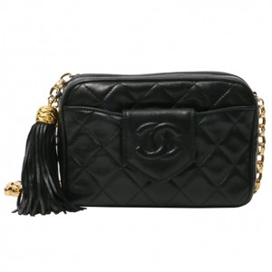 Chanel Vintage Tassel Camera Lambskin Cross Body Bag