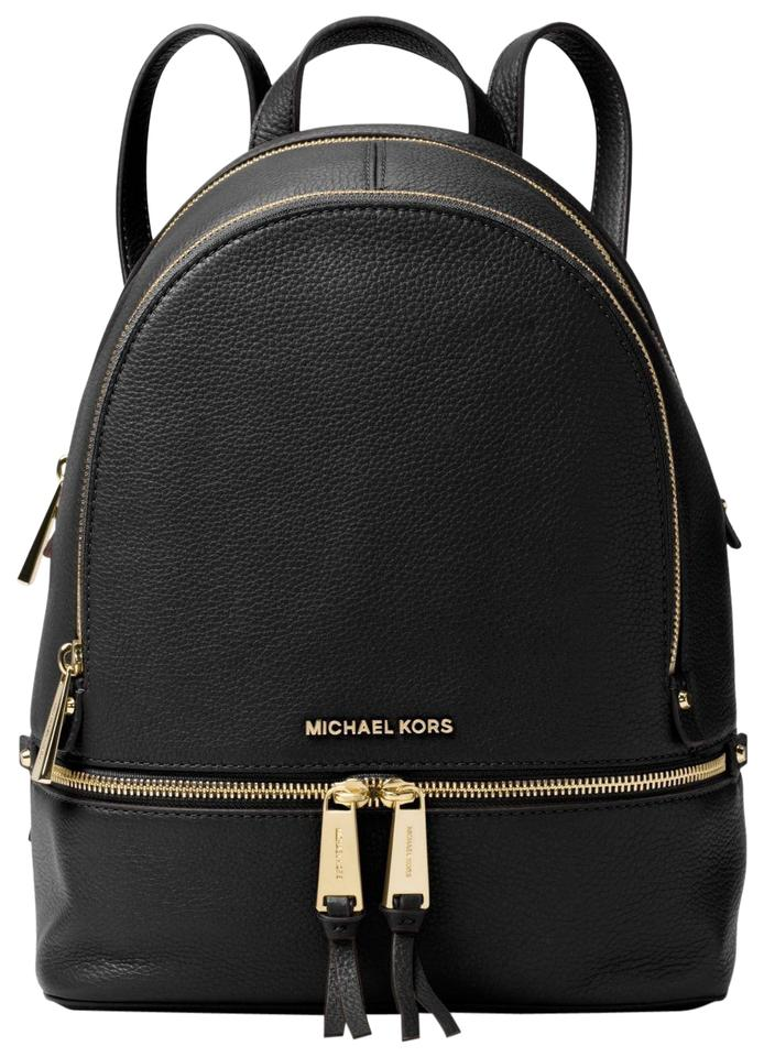 dfda96e48 Michael Kors Rhea Medium 30s5gezb1l-001 Black Leather Backpack - Tradesy