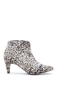 Matisse Calf Hair Ankle Black and White Boots