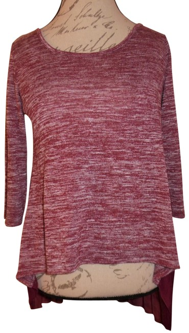 Preload https://img-static.tradesy.com/item/23391233/maroon-mauve-heathered-sheer-crinkled-back-two-fabric-sweaterpullover-size-8-m-0-1-650-650.jpg