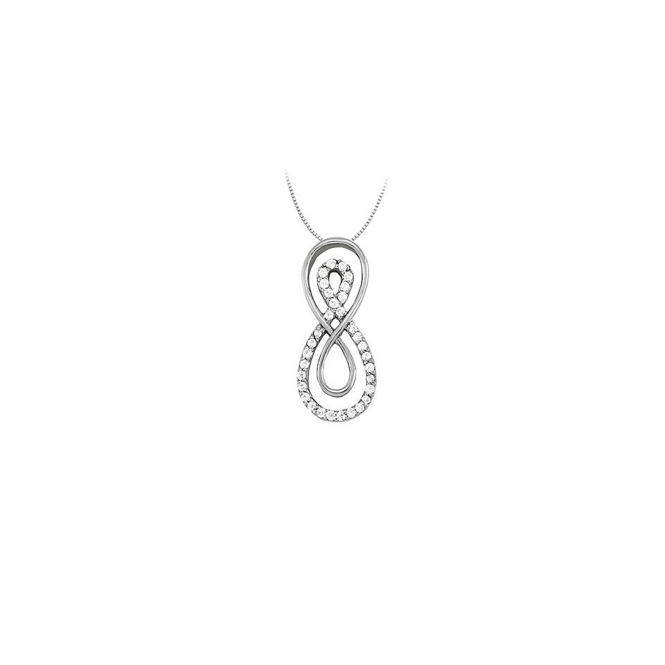 White cubic zirconia double infinity pendant in 14k gold 025 ct marco b cubic zirconia double infinity pendant in 14k white gold 025 ct tgwpe aloadofball Image collections