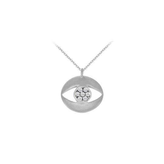 Preload https://img-static.tradesy.com/item/23391309/white-cubic-zirconia-evil-eye-pendant-14k-gold-necklace-0-0-540-540.jpg