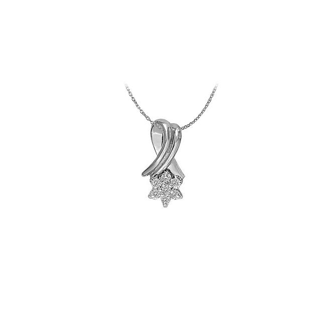 White Cubic Zirconia Fashion Pendant In 14k Gold 0.10 Ct Tgwperfect Je Necklace White Cubic Zirconia Fashion Pendant In 14k Gold 0.10 Ct Tgwperfect Je Necklace Image 1