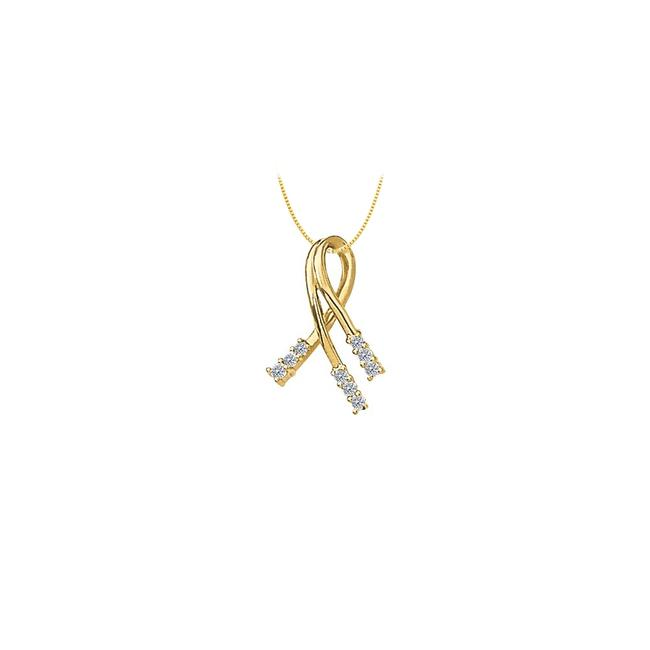 White Yellow Gold Cubic Zirconia Fashion Pendant In 14k 0.33 Ct Tgwjewelry G Necklace White Yellow Gold Cubic Zirconia Fashion Pendant In 14k 0.33 Ct Tgwjewelry G Necklace Image 1