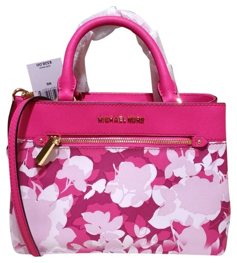 Preload https://img-static.tradesy.com/item/23391328/michael-kors-hailee-pink-granita-leather-satchel-0-1-540-540.jpg
