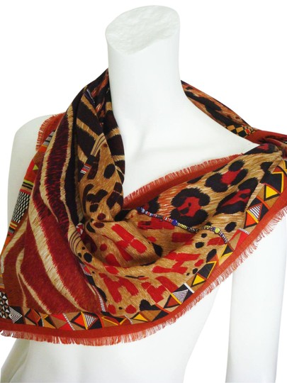 Preload https://img-static.tradesy.com/item/23391353/hermes-rougebrown-silk-and-cashmere-et-camouflage-scarfshawl-scarfwrap-0-3-540-540.jpg