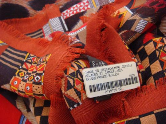 Hermès Hermes Silk and Cashmere Et Camouflage Scarf/Shawl