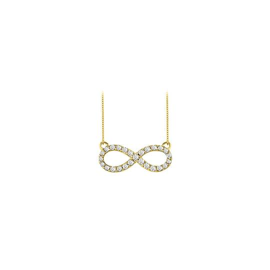 Preload https://img-static.tradesy.com/item/23391373/white-yellow-gold-cubic-zirconia-infinity-14k-half-a-carat-czs-necklace-0-0-540-540.jpg