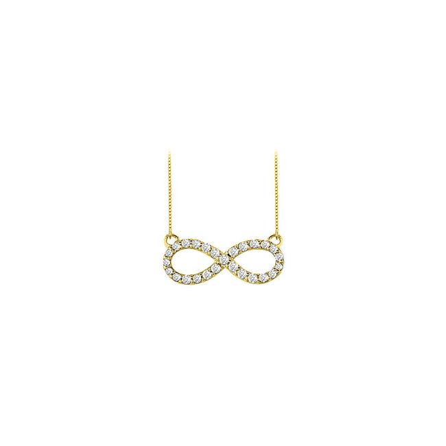White Yellow Gold Cubic Zirconia Infinity 14k Half A Carat Czs Necklace White Yellow Gold Cubic Zirconia Infinity 14k Half A Carat Czs Necklace Image 1