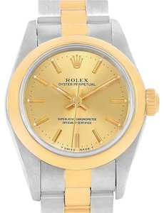 Rolex Rolex Oyster Perpetual Non-Date Steel Yellow Gold Womens Watch 76183