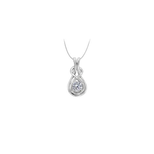 Preload https://img-static.tradesy.com/item/23391491/white-diamond-love-knot-pendant-in-14k-gold-totaling-010-ct-tdw-with-necklace-0-0-540-540.jpg