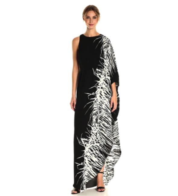 Preload https://img-static.tradesy.com/item/23391529/halston-blackwhite-heritage-botanical-caftan-one-sleeve-gown-long-formal-dress-size-2-xs-0-0-650-650.jpg
