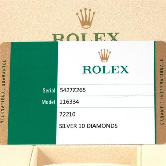 Rolex Rolex Datejust II Steel White Gold Diamond Dial Watch 116334 Box Card