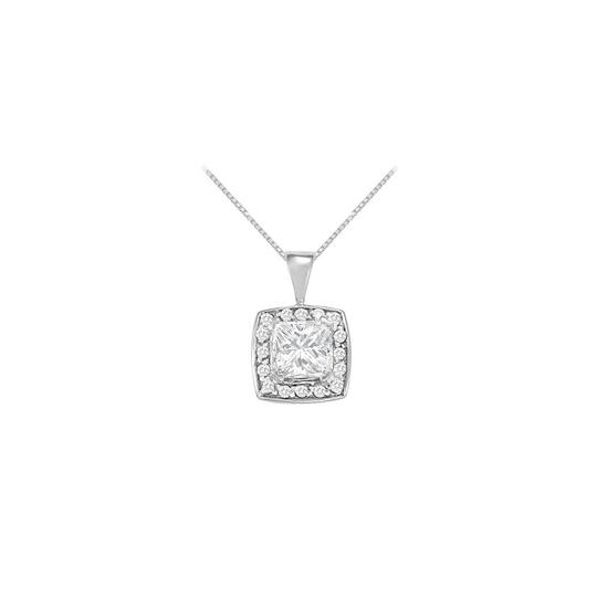 Preload https://img-static.tradesy.com/item/23391552/white-fancy-square-cubic-zirconia-halo-pendant-in-14k-gold-125-ct-tgw-necklace-0-0-540-540.jpg