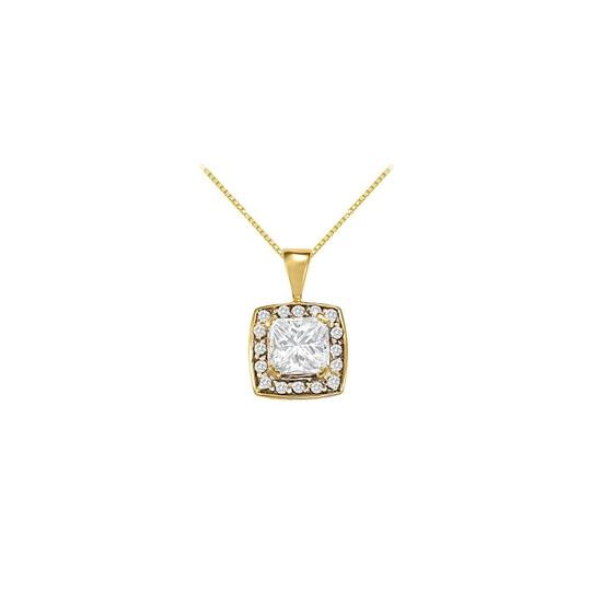 Preload https://img-static.tradesy.com/item/23391558/white-yellow-gold-fancy-square-cubic-zirconia-halo-pendant-in-14k-125-ct-tg-necklace-0-0-540-540.jpg