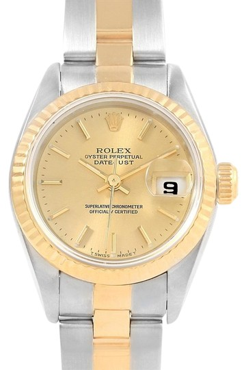 Preload https://img-static.tradesy.com/item/23391564/rolex-champagne-datejust-26-steel-yellow-gold-oyster-bracelet-ladies-69173-watch-0-1-540-540.jpg