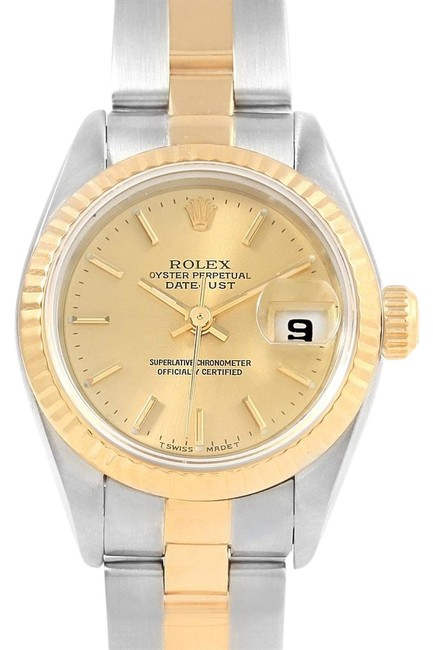Rolex Champagne Datejust 26 Steel Yellow Gold Oyster Bracelet Ladies 69173 Watch Rolex Champagne Datejust 26 Steel Yellow Gold Oyster Bracelet Ladies 69173 Watch Image 1