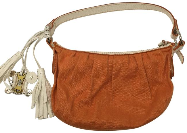 Céline Pochette Orange Canvas Baguette Céline Pochette Orange Canvas Baguette Image 1