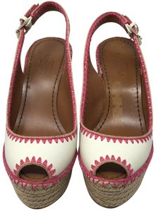 Valentino ivory and pink Wedges - item med img