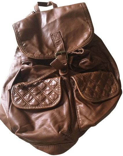 Preload https://img-static.tradesy.com/item/23391655/rucksack-brown-vegan-leather-backpack-0-1-540-540.jpg