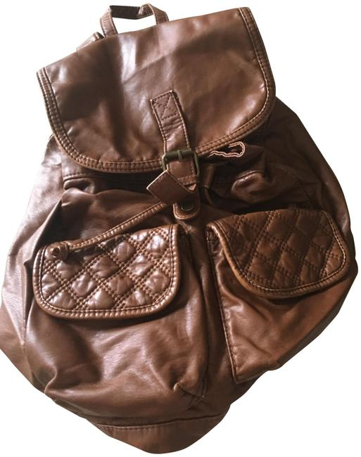 Rucksack Brown Vegan Leather Backpack Rucksack Brown Vegan Leather Backpack Image 1