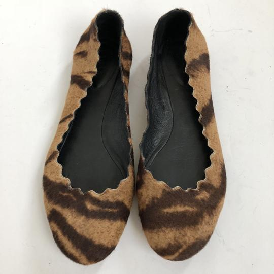 Chloé tan brown black Flats