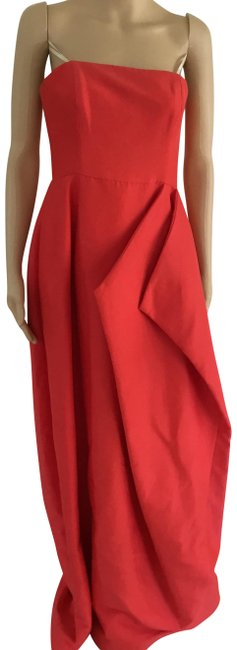 Preload https://img-static.tradesy.com/item/23391707/halston-poppy-heritage-strapless-pleated-sateen-gown-long-cocktail-dress-size-4-s-0-2-650-650.jpg